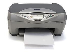 An Epson CX3200 multi-function printer/scanner.
