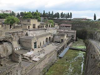 Herculaneum Roman town destroyed by eruption of Mount Vesuvius