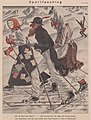 Erich Schilling – Sportfasching (Sports carnival, skiers in costumes) 1939 Satirical cartoon No known copyright (low-res).jpg