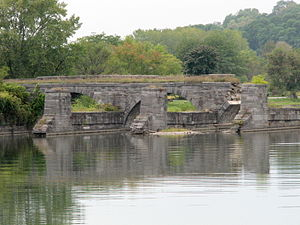 Fort Hunter, New York - Erie Canal aqueduct at Fort Hunter, NY