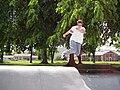 Erika Schnell Rollerblading at Wenatchee Skatepark 2000 1.jpg