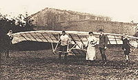 Gottlob Espenlaub's first hang gliding competition at Wasserkuppe, Germany, 1921.