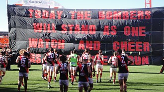 Banner (Australian rules football) - Image: Essendon Banner
