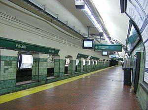 9 de Julio (Line D Buenos Aires Underground) - Image: Estacion 9 de julio