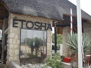 Gate at the Entrance to Etosha National Park