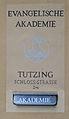 Evangelische Akademie Tutzing - Akademie - Eingang 001.jpg