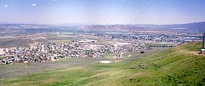 Evanston, Wyoming - Evanston from Burnt Hill, south of town.
