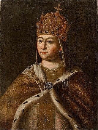 Eudoxia Streshneva - Image: Evdokiya Streshneva (GIM, 18 c.) 2