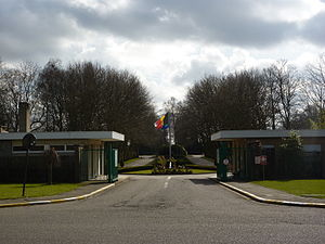 Schaerbeek Cemetery - The entry of the Schaerbeek Cemetery in Evere (Brussels)