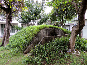 RAF Kai Tak - Air-raid shelter in the former Officers' Quarters Compound.