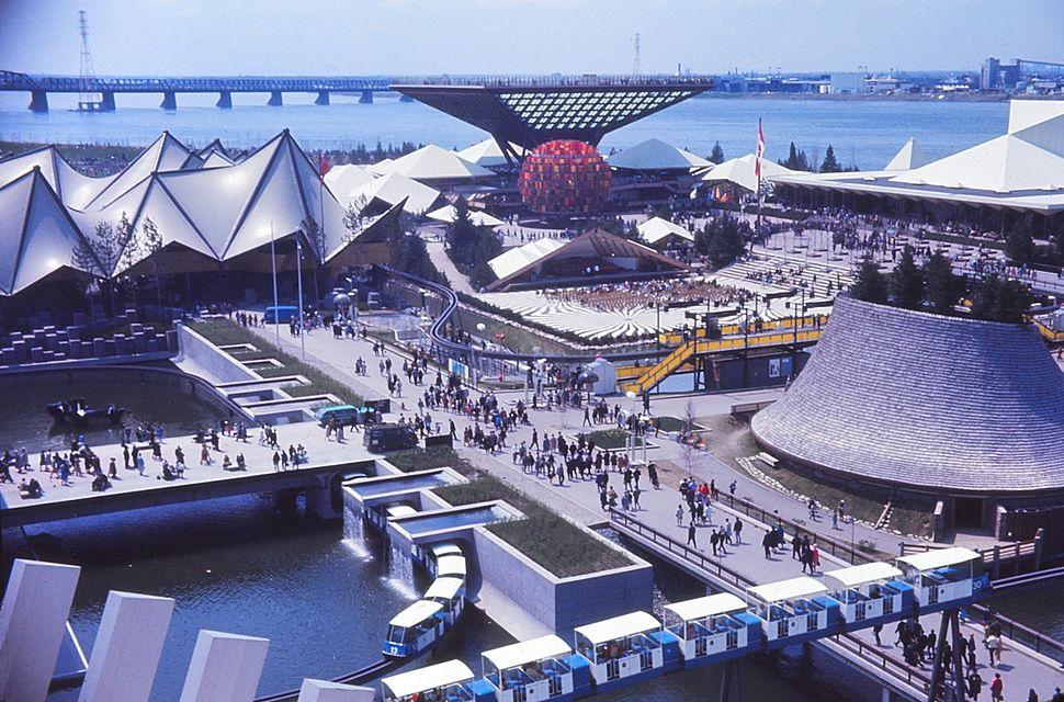 Expo 67, pavillons Ontario, Canada, Provinces-de-l%27Ouest, et le Minirail.