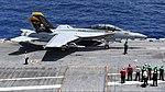 FA-18F Super Hornet of VFA-103 aboard USS Abraham Lincoln (CVN-72) in the Atlantic Ocean on 1 August 2018 (180801-N-RG171-1542).JPG
