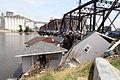 FEMA - 36565 - Debris piled against a bridge in Iowa.jpg