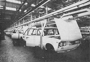 Fabryka Samochodów Osobowych - Polski Fiat 125p sedans assembled at FSO around 1974