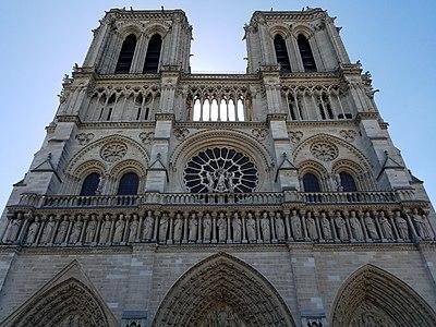 Facade of Notre-Dame de Paris - 2018-06-23