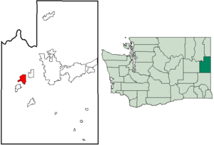 Location of Fairchild AFB, Washington