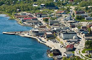 Fauske - View of Fauske sentrum