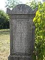 Felsődabas Jewish Cemetery, Herman Weisz, Hebrew-German text, 2017 Dabas.jpg