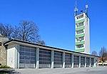 Fire department building with figure shrine St.  Florian