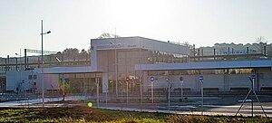 Figueres-Vilafant railway station - The station building.
