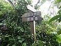 Fingerpost on trail of Mount Katsuu and Mount Furushi 201901.JPG