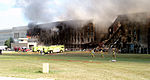 Firefighters struggle to contain the fire, after the September 11, 2001, terrorist attack on the Pentagon 010911-F-XT317-003.jpg
