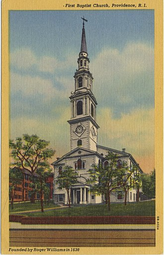 First Baptist Church in America - Image: First Baptist Church in America early 20th Century postcard