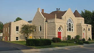 Winchester Residential Historic District - First Presbyterian Church of Winchester, July 2011