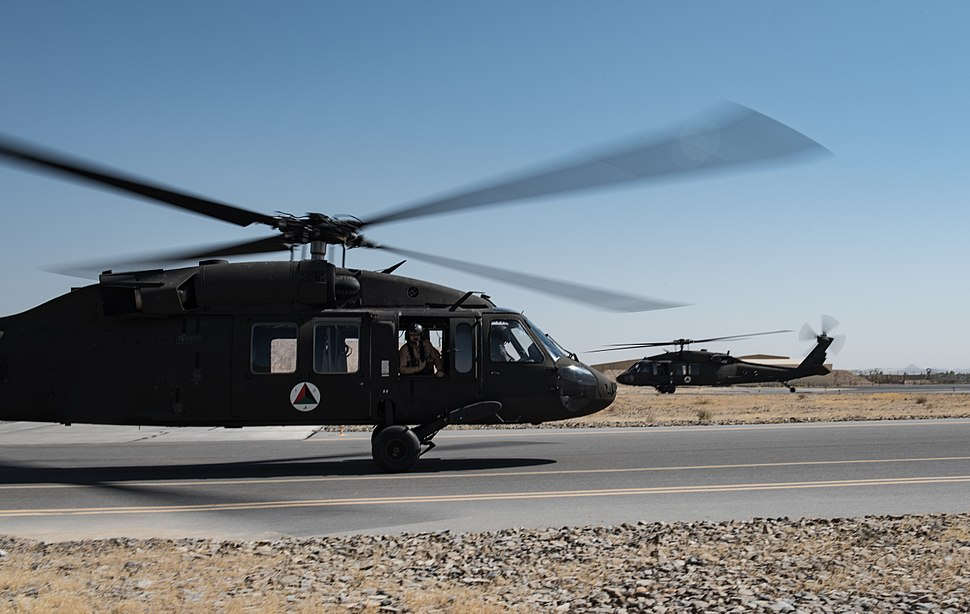 First set of Afghan UH-60A Black Hawks