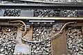 Fishplate at Birkenhead Central station.jpg
