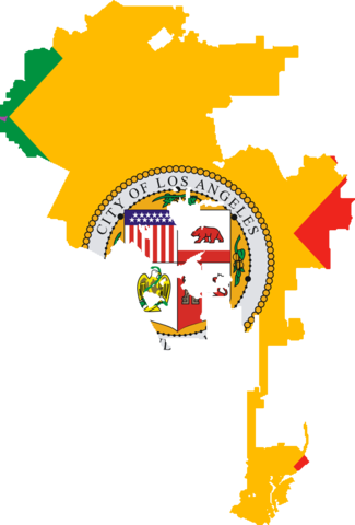File Flag map of Los Angeles California Wikimedia mons