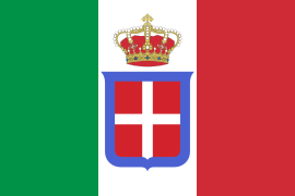 Flag of Italy (1861-1946) crowned.svg