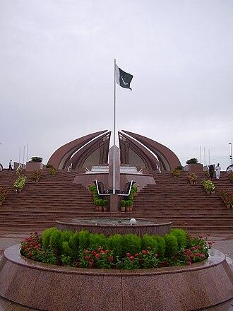Pakistani nationalism - National Monument of Pakistan in Islamabad.