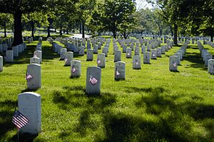 Each marker in section 60 of Arlington Nationa...
