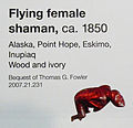 Flying Female Shaman - circa 1850 - label - De Young Museum.jpg