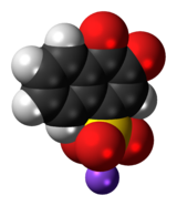 Space-filling model of the Folin's reagent molecule