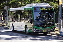 Forest Coach Lines (mo 5441) Custom Coaches 'CB80' bodied Volvo B7RLE on Olympic Boulevard at Sydney Olympic Park.jpg