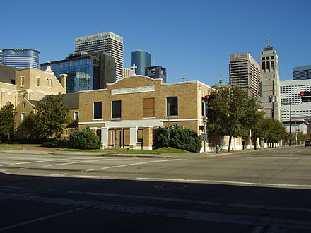 The former Sacred Heart School FormerSacredHeartSchoolDowntownHouston.JPG