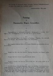Forslag til Danmarks Riges Grundlov