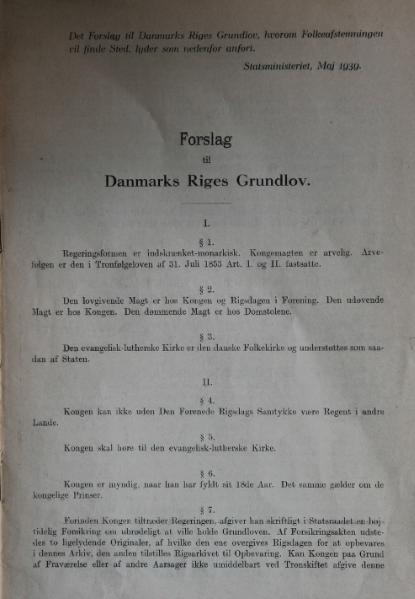 File:Forslag til Danmarks Riges Grundlov (1939).djvu