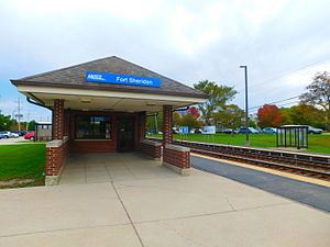 Fort Sheridan station - The Fort Sheridan station in October 2015.