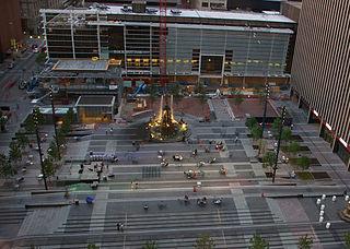 Fountain Square, Cincinnati city square in Ohio, United States