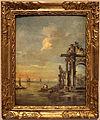 Francesco guardi, capriccio architettonica con rovine romane e laguna, 1775 circa.JPG