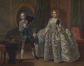 Hannah Pritchard - David Garrick and Mrs. Pritchard in Benjamin Hoadley's The Suspicious Husband