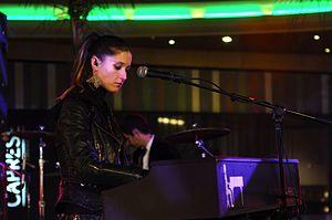 Francisca Valenzuela - Valenzuela performing at a concert in 2008.