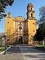 Franciscan convent San Juan Bautista, Metepec, Mexico state - facade.JPG