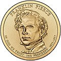 Franklin Pierce $1 Presidential Coin obverse sketch.jpg