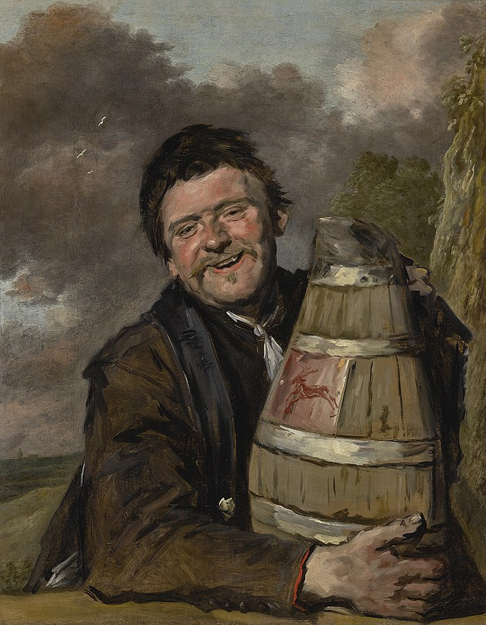Man with a beer jug