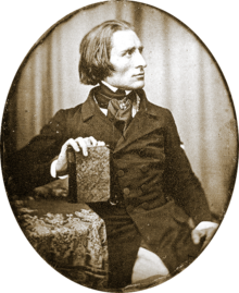 Earliest known photograph of Liszt (1843) (Source: Wikimedia)