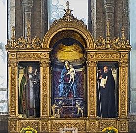 Frari (Venice) - Sacristy - triptych by Giovanni Bellini.jpg
